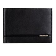 Black Slim Bi Fold Wallet