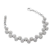 Multiple Daisy Diamante Bracelet - Silver