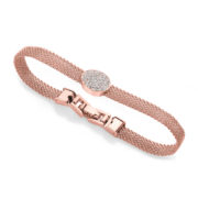 Chain Mail Oval Bracelet - Rose Gold