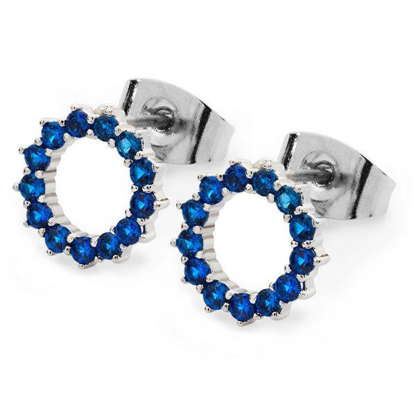 Ice Blue Moon Earrings Silver