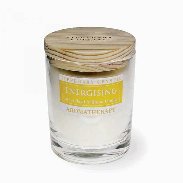 Aromatherapy Candle: Engergising - Sweet Basil & Blood Orange