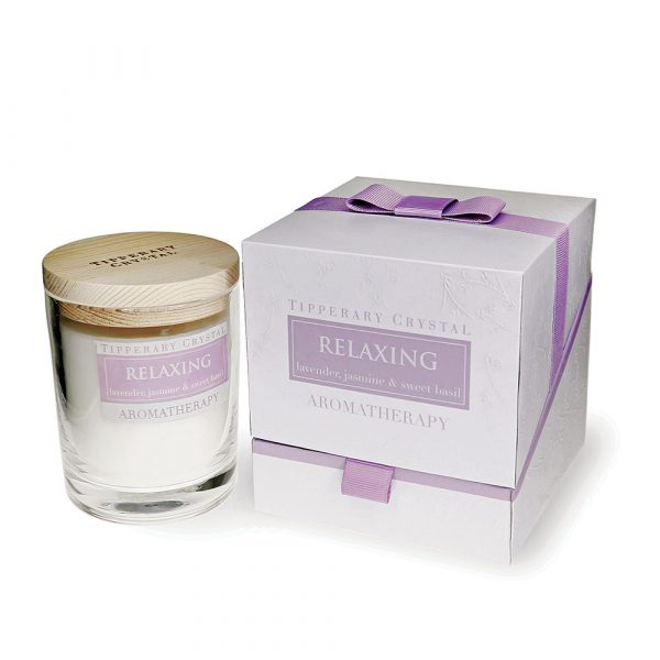 Aromatherapy Candle: Relaxing - Lavender, Jasmine & Sweet Basil