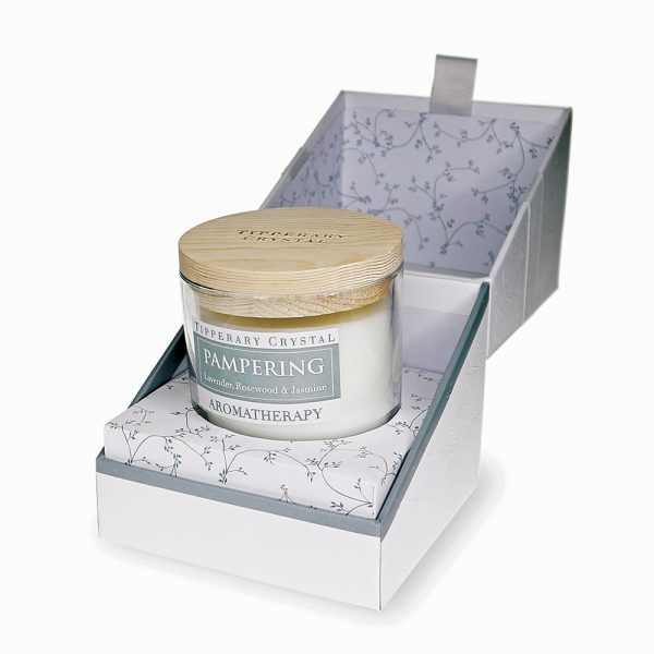 Aromatherapy Candle: Pampering - Lavender, Rosewood & Jasmine