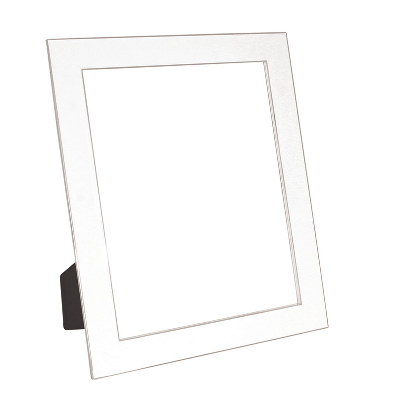 Classic White Enamel Frame 5 Inch x 7 Inch - Get Gift