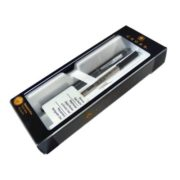 Black lacquer Ballpoint Pen (with bonus gel refill) self serve box